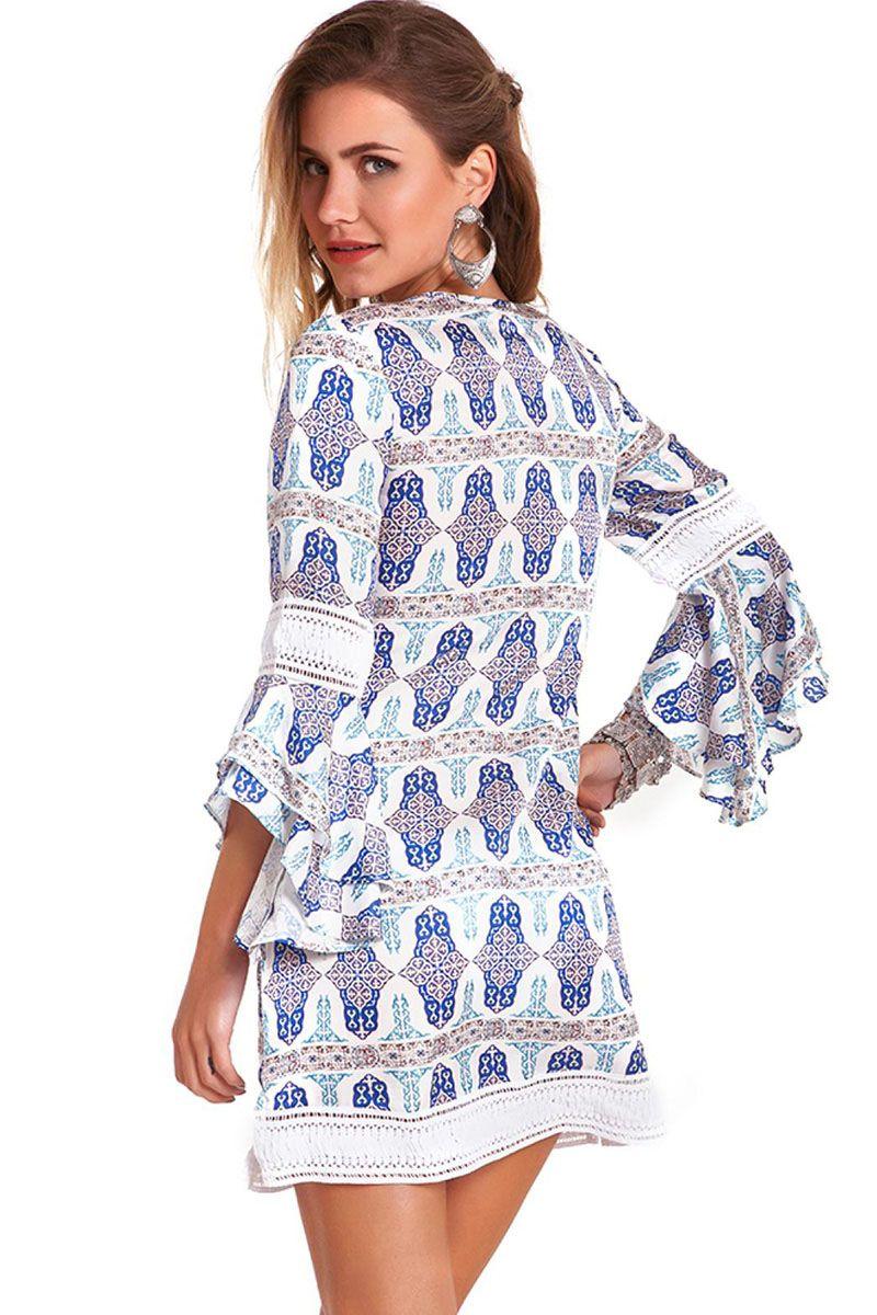 Vestido Isabel Azulejo Branco