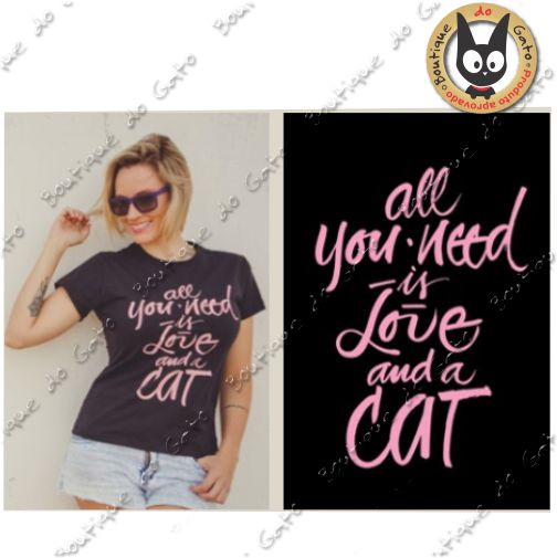 Blusa All you need is love and a Cat P
