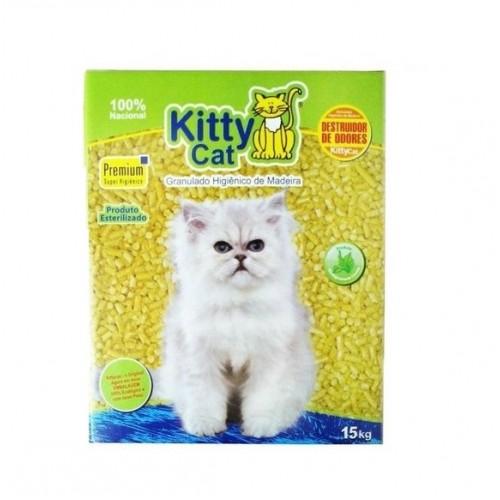 Kitty Cat granulado de madeira