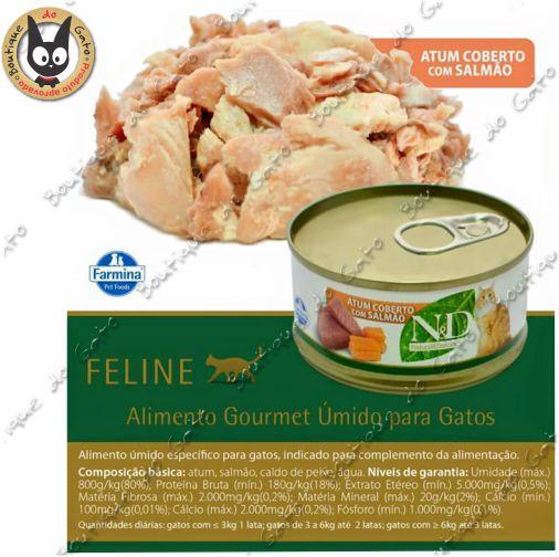 N&D latinha Atum com salmão