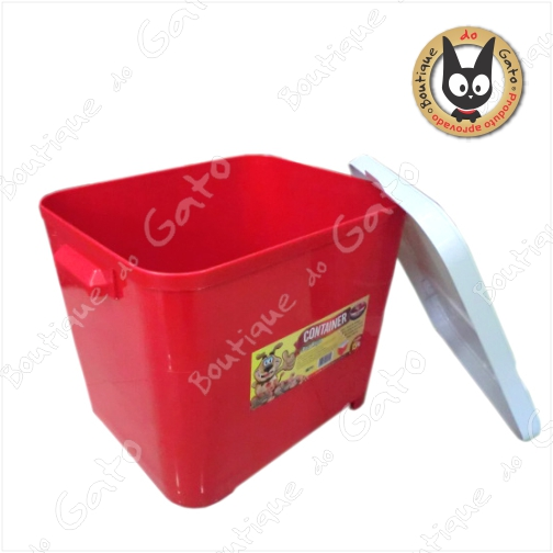 Caixa para armazenamento (ração ou areia)