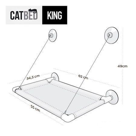 Prateleira de ventosa King