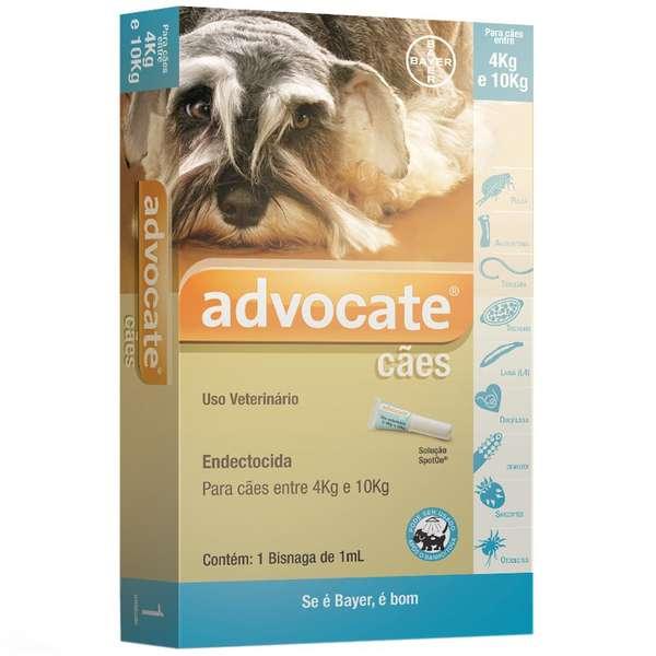 Anti Pulgas Bayer Advocate com 1,0 mL para Cães de 4 a 10 Kg