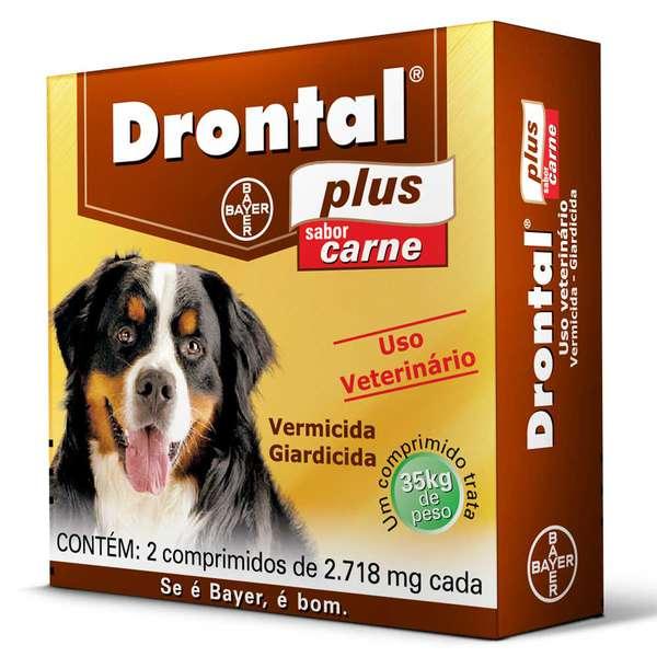 Vermífugo Drontal Plus Sabor Carne para Cães de 35 Kg