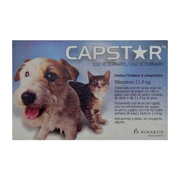 Anti Pulgas Novartis Capstar de 11 mg  para Cães e Gatos - Até 11 Kg