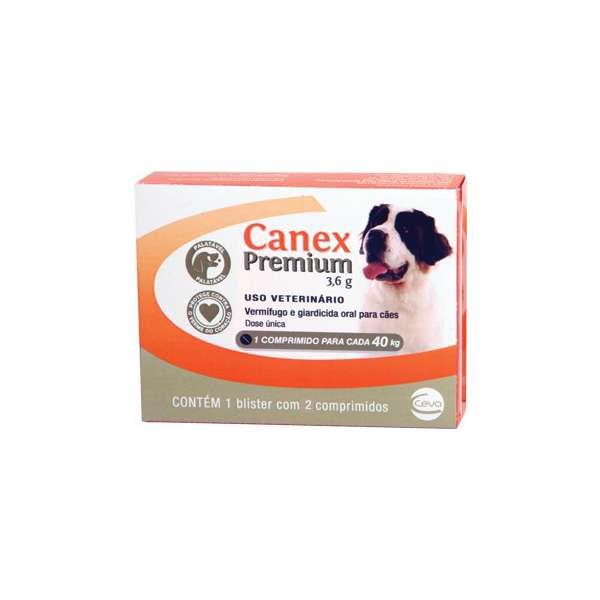 Vermifugo Canex Premium 3,6 g para Cães até 40 Kg - 2 comprimidos