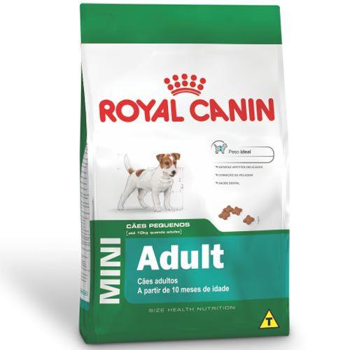 Ração Royal Canin Mini Adult para Cães Adultos de Raças Pequenas com 10 Meses ou mais de Idade 1Kg