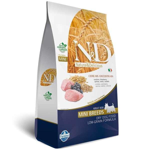 Ração Farmina N & D Low Grain Cordeiro para Cães Adultos de Raças Pequenas