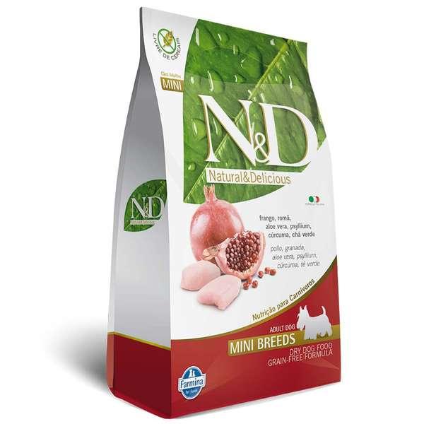 Ração Farmina N & D Grain Free Frango para Cães Adultos de Raças Pequenas