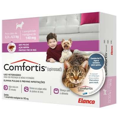 Anti Pulgas Elanco Comfortis 140 mg para Cães de 2,3 a 4 Kg e Gatos de 1,9 a 2,7 Kg