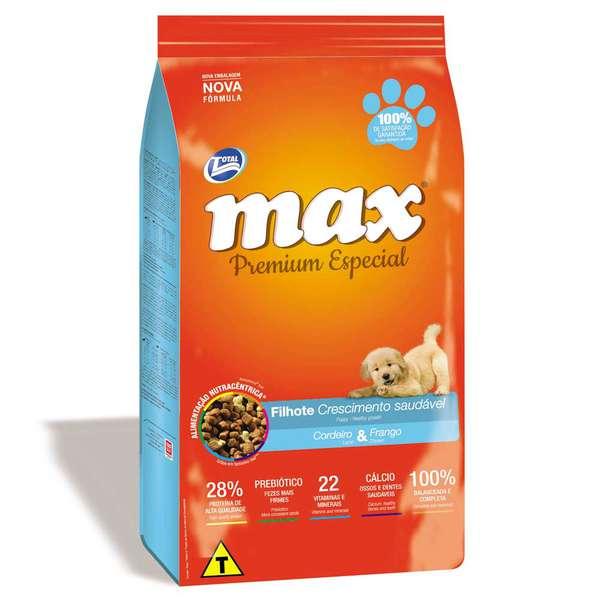 Ração Total Max Cordeiro e Frango para Cães Filhotes