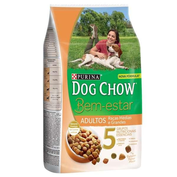 Ração Nestlé Purina Dog Chow Bem Estar Adultos Raças Médias e Grandes