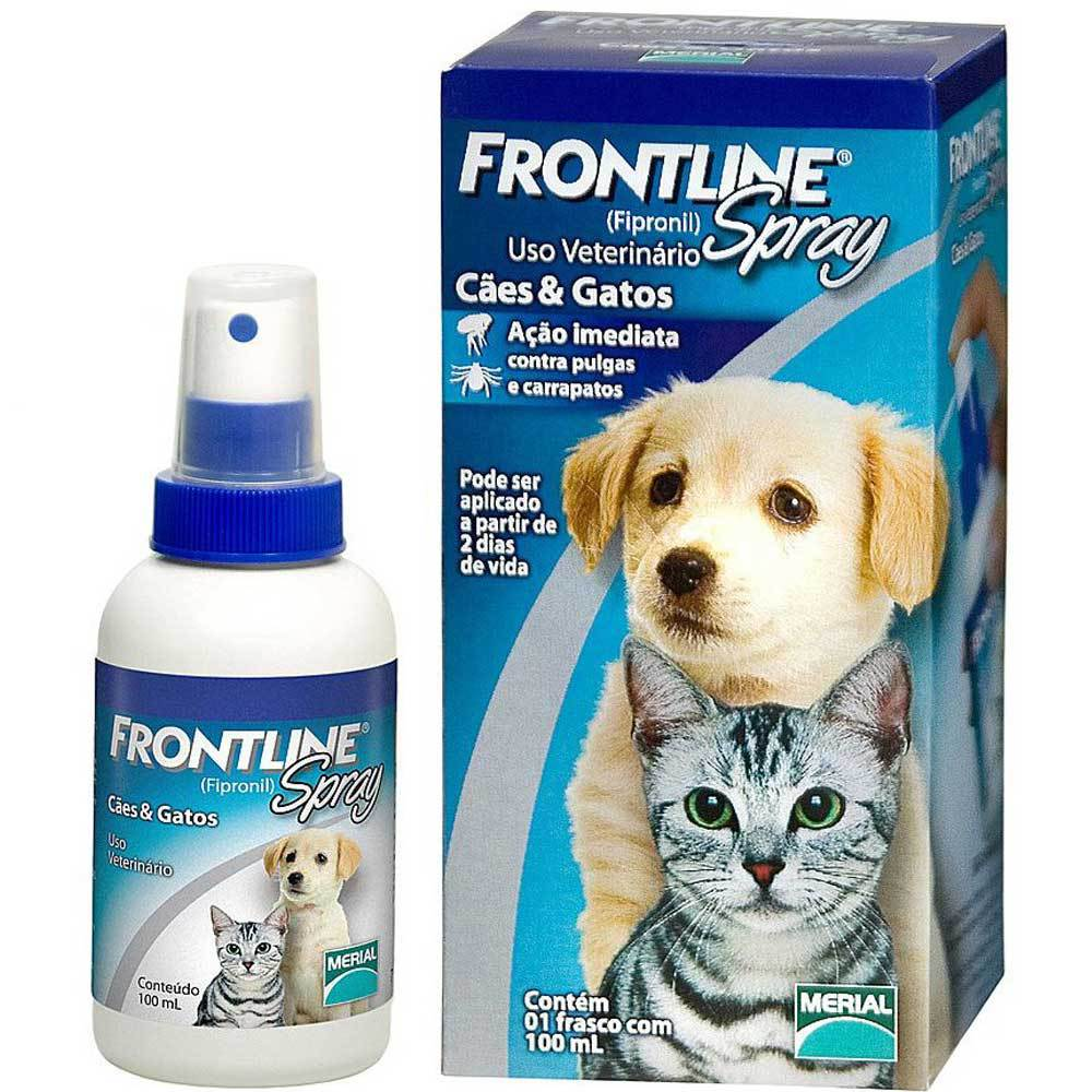 Anti Pulgas e Carrapatos Frontline Spray para Cães e Gatos