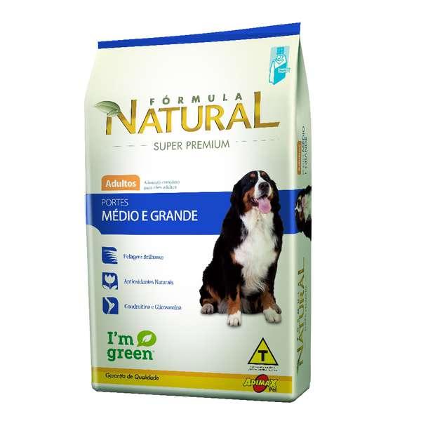 Ração Adimax Pet Formula Natural para Cães Adultos de Porte Médio e Grande