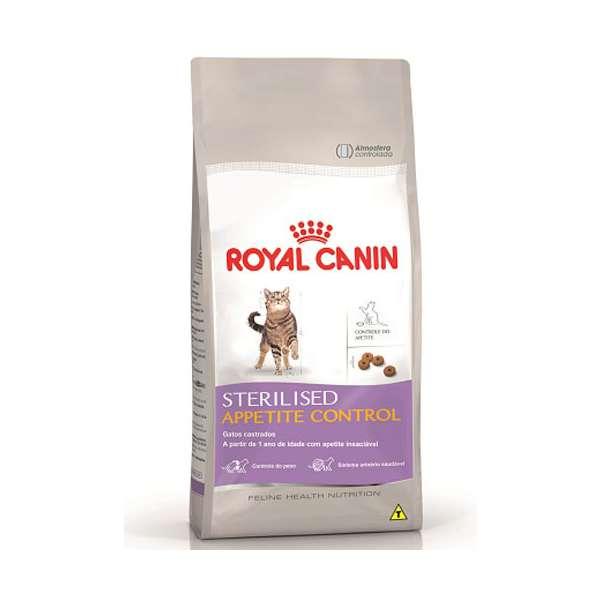 Ração Royal Canin Feline Health Nutrition Sterilised Appetite Control para Gatos Adultos 1,5kg