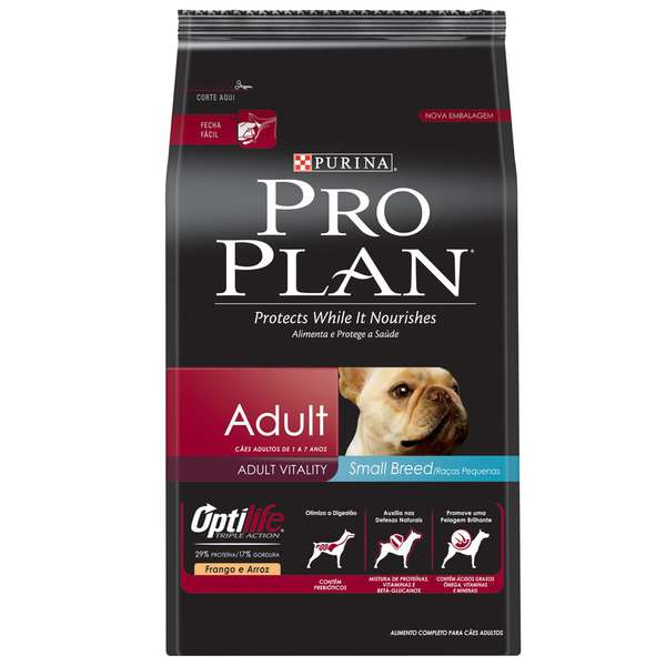 Ração Nestlé Purina Pro Plan Adult Small Breed OptiLife Triple Action