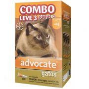 Anti Pulgas Combo Advocate Bayer para Gatos de até 4kg - 0,4ml