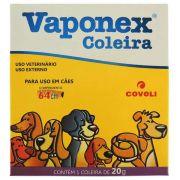 Coleira Anti Pulgas Coveli Vaponex para Cães - 20 gr