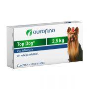 Vermifugo Top Dog para Cães de até 2.5kg - 4 Comprimidos