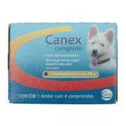 Vermifugo Canex Composto para Cães até 10 Kg - 4 Comprimidos