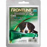Anti Pulgas e Carrapatos Frontline Plus para Cães de 40 a 60 Kg Tam GG
