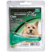 Anti Pulgas e Carrapatos Frontline Plus para Cães de 1 a 10 Kg Tam P