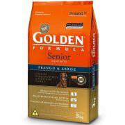 Ração Golden Formula Cães Sênior Mini Bits Frango e Arroz