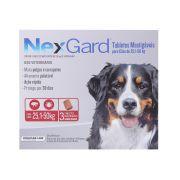 Anti Pulgas e Carrapatos Merial NexGard 136 mg para Cães de 25,1 a 50 Kg 3 Tabletes