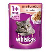 Ração Whiskas Sachê Salmão para Gatos Adultos