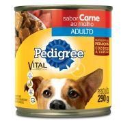 Ração Pedigree Carne Ao Molho Lata para Cães Adultos - 290gr