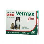 Vermífugo Vetnil Vetmax Plus 700 mg - 4 Comprimidos