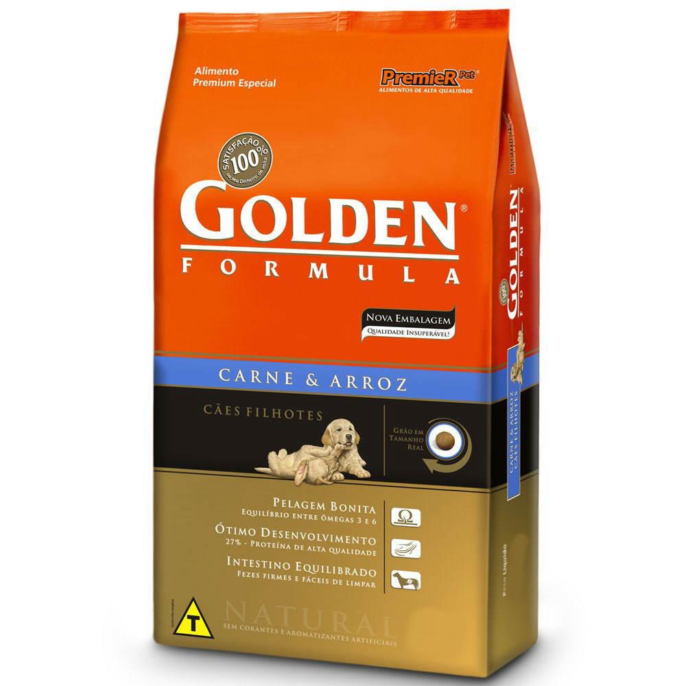 Ração Golden Formula Cães Filhotes Carne e Arroz
