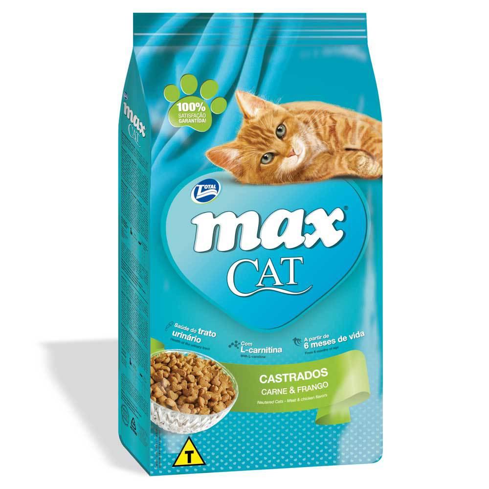Ração Total Max Cat para Gatos Castrados