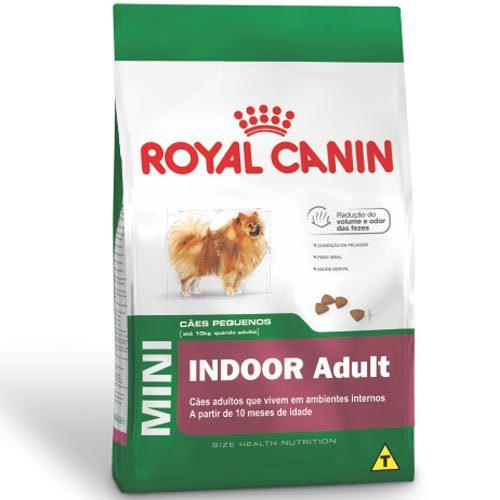Ração Royal Canin Mini Indoor Adult para Cães Adultos de Raças Pequenas com 10 Meses ou mais 1Kg