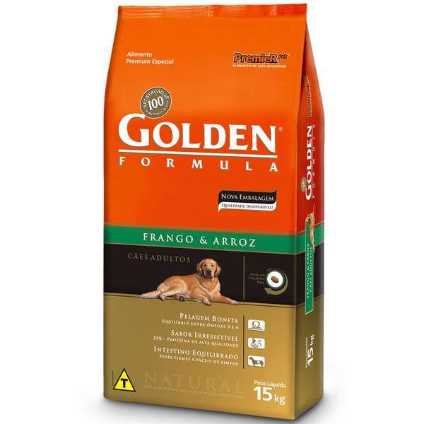 Ração Golden Formula Cães Adultos Frango e Arroz
