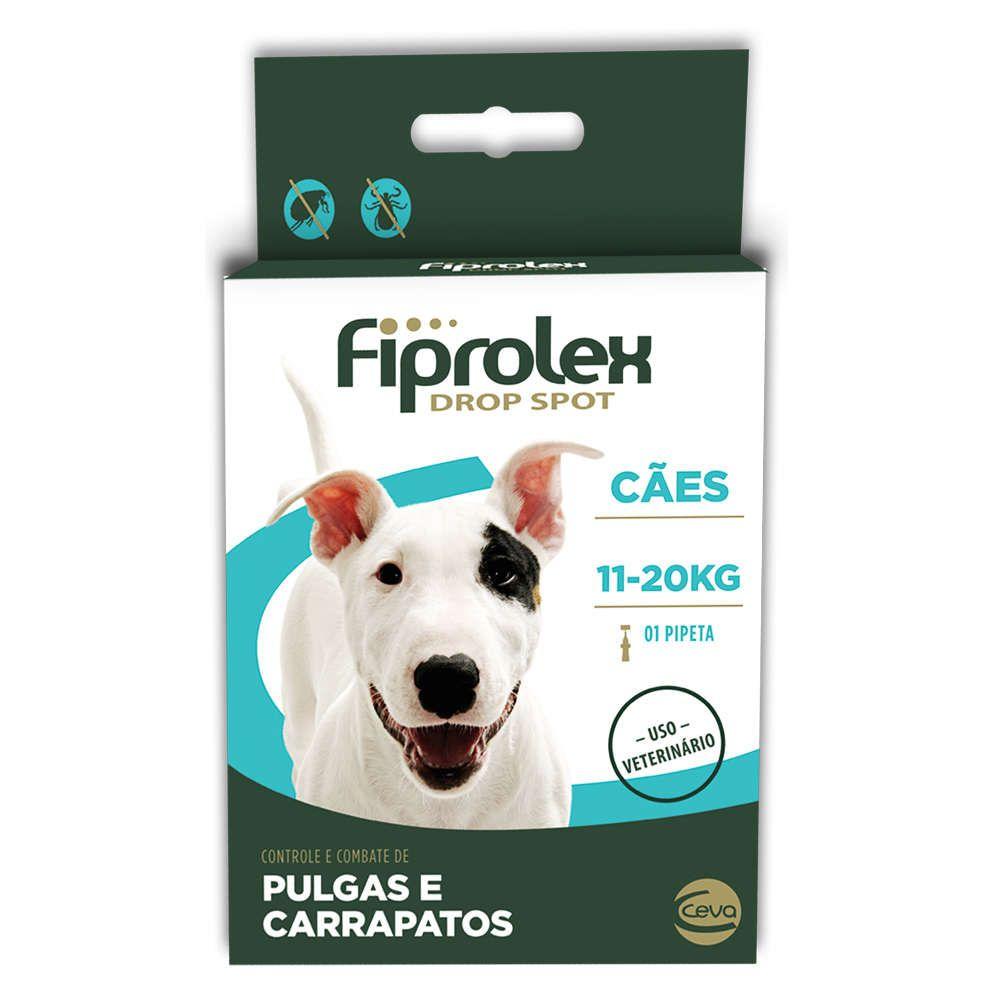 Antipulgas e Carrapatos Ceva Fiprolex Drop Spot de 1,34 mL para Cães de 11 a 20 Kg