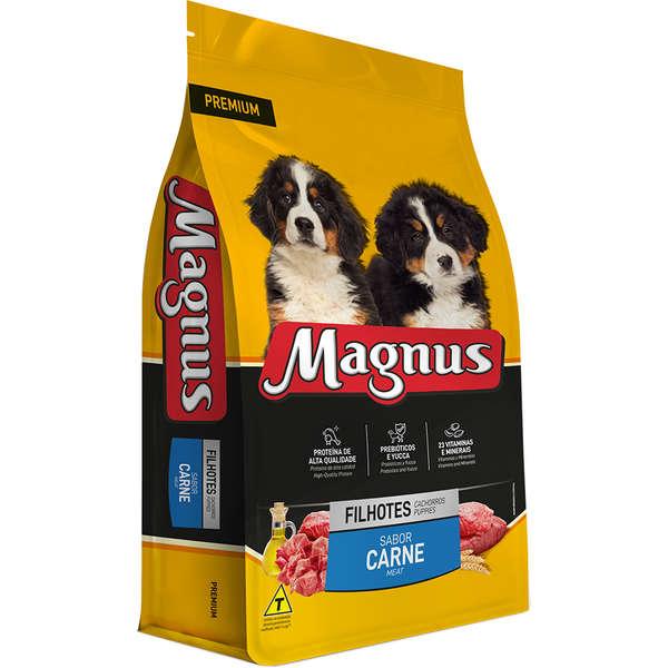 Ração Adimax Pet Magnus Premium Carne para Cães Filhotes 10kg
