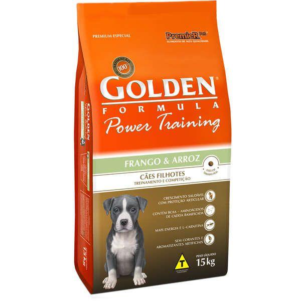 Ração  Golden Power Training Cães Filhotes Frango e Arroz