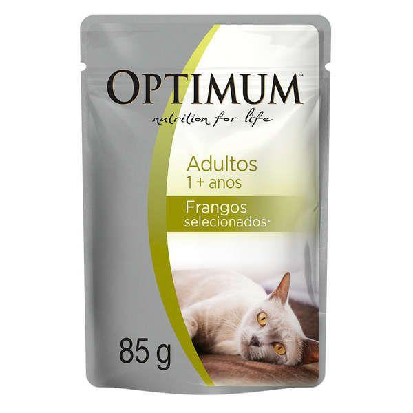 Ração Optimum Sachê Frango para Gatos Adultos 85g