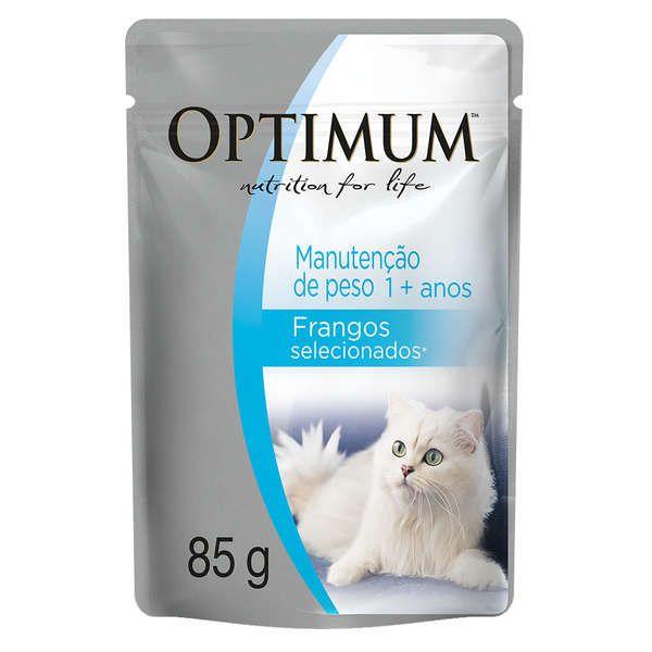 Ração Optimum Sachê Manutenção de Peso Frango para Gatos Adultos 85g