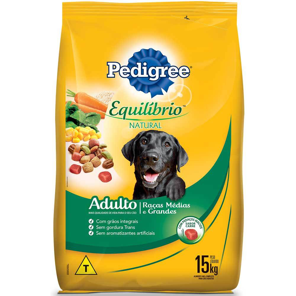 Ração Pedigree Equilíbrio Natural para Cães Adultos de Raças Médias e Grandes