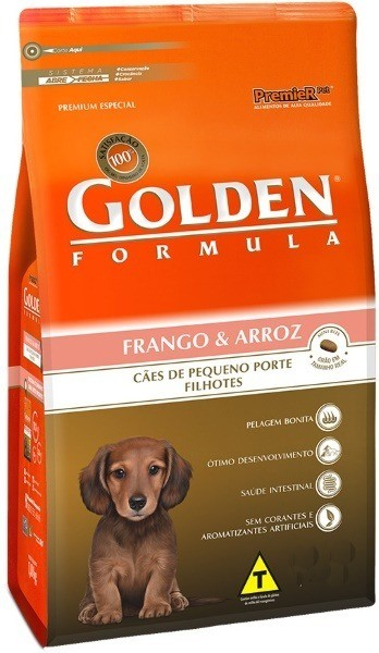 Ração Premier Golden Formula Cães Filhotes Mini Bits Frango e Arroz