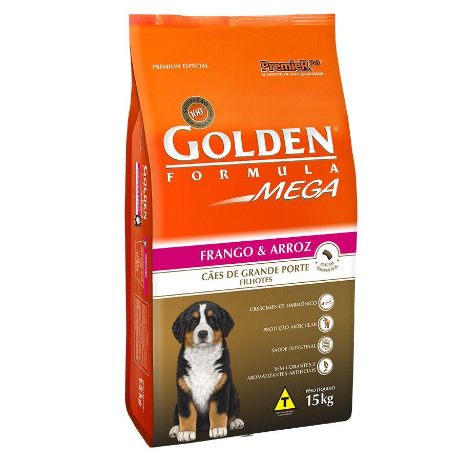 Ração  Golden Mega Cães Filhotes Raças Grandes Frango e Arroz
