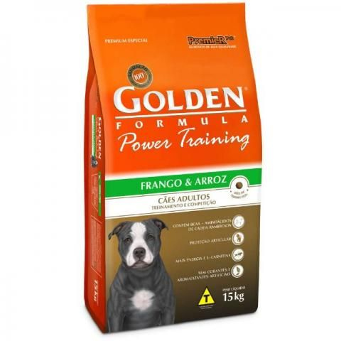 Ração  Golden Power Training Cães Adultos Frango e Arroz