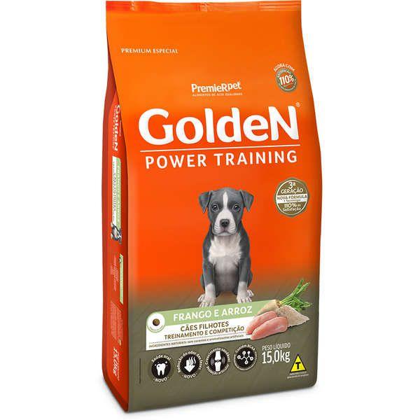 Ração Premier Golden Power Training Cães Filhotes Frango e Arroz
