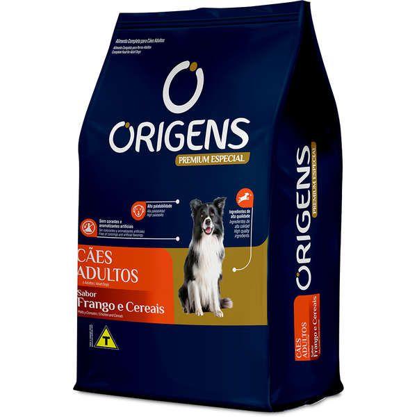 Ração Seca Origens Premium Especial Frango e Cereais Cães Adultos