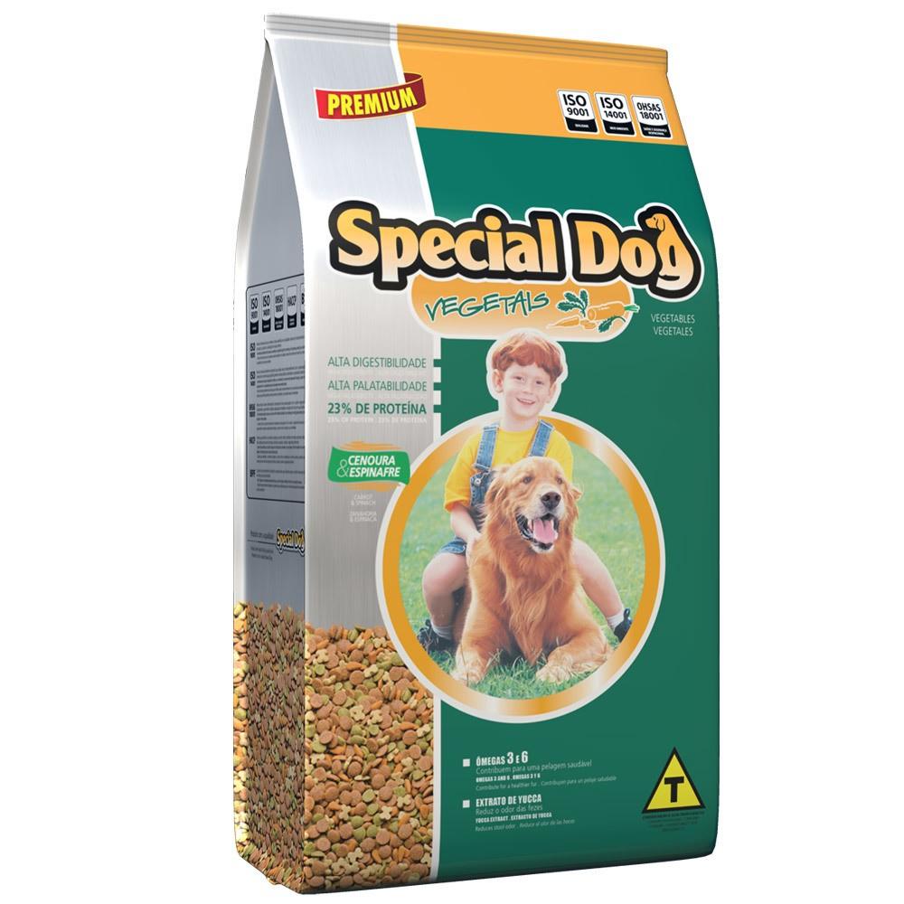 Ração Special Dog Premium Vegetais Cenoura e Espinafre para Cães