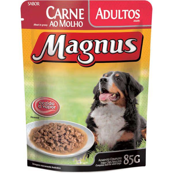 Sachê Magnus Premium Carne ao Molho para Cães Adultos 85g