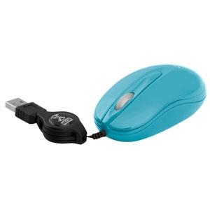 Mini Mouse Óptico USB Retrátil Azul Neox NXM-016 VM