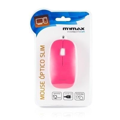Mouse Óptico USB Slim Rosa